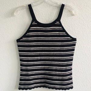 3/$25 Black/White Striped Tank Top